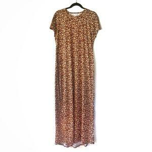 LuLaRoe Maria Leopard Maxi Dress